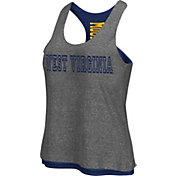 Colosseum Athletics Women's West Virginia Mountaineers Grey/Blue Reversible Tank Top