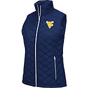 Colosseum Athletics Women's West Virginia Mountaineers Blue  Elite Quilted Vest