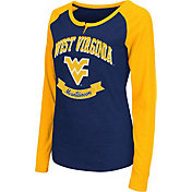 Colosseum Athletics Women's West Virginia Mountaineers Blue Healy Long Sleeve Shirt