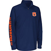Colosseum Athletics Youth Auburn Tigers Blue Draft Performance Quarter-Zip