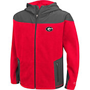 Colosseum Athletics Youth Georgia Bulldogs Red Full-Zip Fleece Jacket