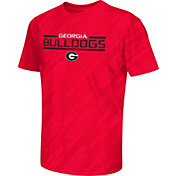 Colosseum Athletics Youth Georgia Bulldogs Red Sleet Performance T-Shirt