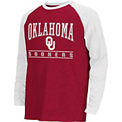 Colosseum Athletics Youth Oklahoma Sooners Crimson Krypton Long Sleeve Shirt