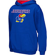 Colosseum Athletics Boys' Kansas Jayhawks Blue Poly Fleece Hoodie