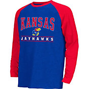 Colosseum Athletics Youth Kansas Jayhawks Blue Krypton Long Sleeve Shirt