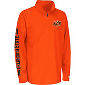 Colosseum Athletics Youth Oklahoma State Cowboys Orange Draft Performance Quarter-Zip