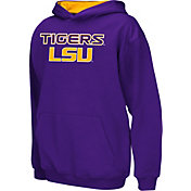 Colosseum Athletics Boys' LSU Tigers Purple Poly Fleece Hoodie