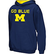 Colosseum Athletics Boys' Michigan Wolverines Blue Poly Fleece Hoodie
