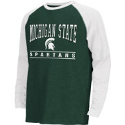 Colosseum Athletics Youth Michigan State Spartans Green Krypton Long Sleeve Shirt