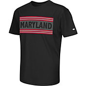 Colosseum Athletics Youth Maryland Terrapins Silver Bar Black T-Shirt