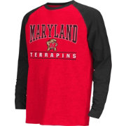 Colosseum Athletics Youth Maryland Terrapins Red Krypton Long Sleeve Shirt