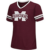 Colosseum Athletics Girls' Mississippi State Bulldogs Maroon Titanium T-Shirt
