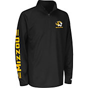 Colosseum Athletics Youth Missouri Tigers Draft Performance Black Quarter-Zip