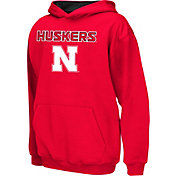Colosseum Athletics Boys' Nebraska Cornhuskers Scarlet Poly Fleece Hoodie
