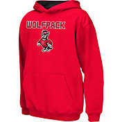 Colosseum Athletics Boys' NC State Wolfpack Red Poly Fleece Hoodie