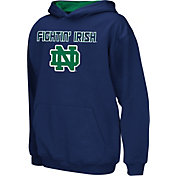 Colosseum Athletics Boys' Notre Dame Fighting Irish Navy Poly Fleece Hoodie