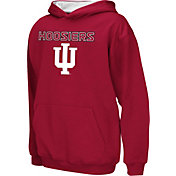 Colosseum Athletics Boys' Indiana Hoosiers Crimson Poly Fleece Hoodie