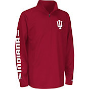 Colosseum Athletics Youth Indiana Hoosiers Crimson Draft Performance Quarter-Zip