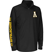 Colosseum Athletics Youth Appalachian State Mountaineers Draft Performance Black Quarter-Zip