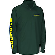 Colosseum Athletics Youth Oregon Ducks Green Draft Performance Quarter-Zip