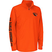 Colosseum Athletics Youth Oregon State Beavers Orange Draft Performance Quarter-Zip