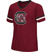 Colosseum Athletics Girls' South Carolina Gamecocks Garnet Titanium T-Shirt