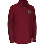 Colosseum Athletics Youth South Carolina Gamecocks Garnet Draft Performance Quarter-Zip