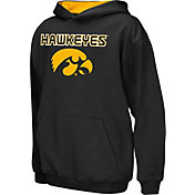 Colosseum Athletics Boys' Iowa Hawkeyes Black Poly Fleece Hoodie