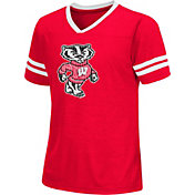 Colosseum Athletics Girls' Wisconsin Badgers Red Titanium T-Shirt