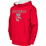 Colosseum Athletics Youth Wisconsin Badgers Red Performance Hoodie