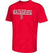 Colosseum Athletics Youth Wisconsin Badgers Red Sleet Performance T-Shirt