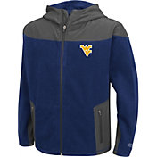 Colosseum Athletics Youth West Virginia Mountaineers Blue Full-Zip Fleece Jacket