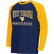 Colosseum Athletics Youth West Virginia Mountaineers Blue Krypton Long Sleeve Shirt