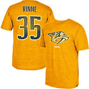CCM Men's Nashville Predators Pekka Rinne #35 Vintage Replica Gold Player T-Shirt