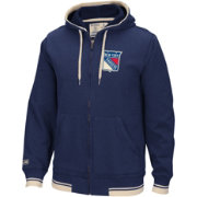 CCM Men's New York Rangers Fashion Fleece Navy Full-Zip Hoodie