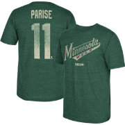 CCM Men's Minnesota Wild Zach Parise #11 Vintage Replica Green Player T-Shirt