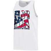 Champion Men's Florida Gators American Flag White Tank