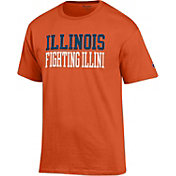 Champion Men's Illinois Fighting Illini Orange T-Shirt