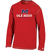 Champion Ole Miss Rebels Red Earn It Long Sleeve Shirt