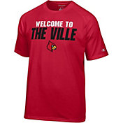 Champion Men's Louisville Cardinals Cardinal Red Football Slogan T-Shirt