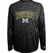 Champion Men's Michigan Wolverines Black Chrome Long Sleeve T-Shirt