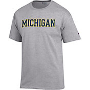 Champion Men's Michigan Wolverines Grey T-Shirt