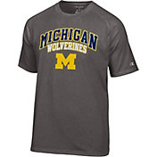 Champion Men's Michigan Wolverines Grey Promo T-Shirt