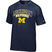 Champion Men's Michigan Wolverines Blue T-Shirt