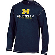 Champion Michigan Wolverines Blue Earn It Long Sleeve Shirt