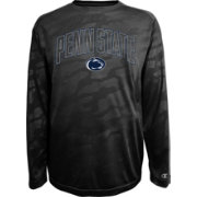 Champion Men's Penn State Nittany Lions Black Chrome Long Sleeve T-Shirt
