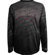 Champion Men's Arkansas Razorbacks Black Chrome Long Sleeve T-Shirt