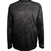 Champion Men's Texas AM Aggies Black Chrome Long Sleeve T-Shirt
