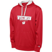 Champion Men's Wisconsin Badgers Red T-Formation Performance Hoodie