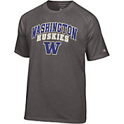 Champion Men's Washington Huskies Grey T-Shirt